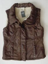 NWT Abercrombie Fitch Sherpa Fur Lined Vest Jacket Jr Women/Youth Sz XS $120