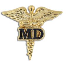 PinMart's Medical Doctor MD Gold Caduceus Pin