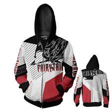 Anime Printed Ladies zipper Sweatshirts FAIRY TAIL casual Hoodies Jackets coat
