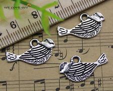 30/60/100pcs retro Jewelry Making Lovely birds alloy charms pendant DIY 11x21mm