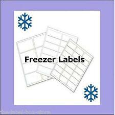 A4 White Matt Self Adhesive Printable Freezer Labels Food Storage Labels