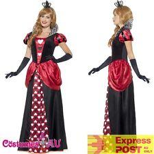 Ladies Royal Red Queen of Hearts Costume Alice Book Week Storybook Fancy Dress