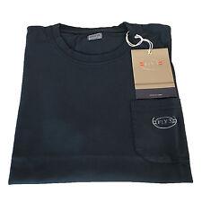 FLY3 t-shirt uomo mezza manica con taschino blu 100% cotone MADE IN ITALY
