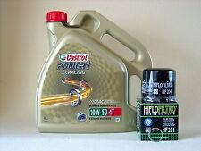 Castrol Power 1 Racing 10W50 Öl Ölfilter HONDA VTR1000SP1+2, SC45 Bj 01-06