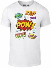 Mens Comic Style T-shirt - Retro Batman Spiderman Superhero Fighting TV Movie