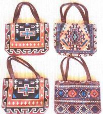 Children Bag Stencilled Maya Aztec Patterns Cotton Canvas Fabric Free Post NEW