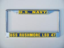 Uss Rushmore Lsd 47 License Plate Frame U S Navy Usn Military
