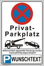 Parkverbot Parkplatz Hinweisschild Parkverbotsschild mit Wunschtext  P58+