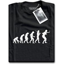 Evolución de Tenis de Mesa O Ping Pong Para Hombre Negro Camiseta