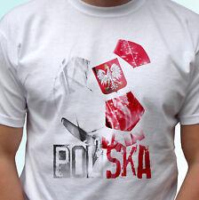 Camiseta Blanco Bandera de fútbol de Polonia Polska koszulka World Cup Prenda para el torso Camiseta todos los tamaños