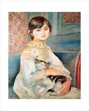 Renoir-Julie Manet avec cat-fine art giclée print Poster-différentes tailles