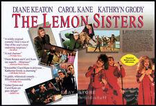 THE LEMON SISTERS__Original 1990 4pg Trade movie Promo__CAROL KANE__DIANE KEATON