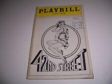 1983 PLAYBILL 42ND STREET MAJESTIC THEATRE LEE ROY REAMS JOSEPH BOVA JESS JAMES