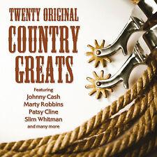CD TWENTY ORIGINAL COUNTRY GREATS CASH CLINE WHITMAN ROBBINS REEVES TWITTY ETC