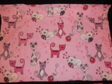 Pink Kitty Love Twin Duvet Set Duvet Cover Bed Skirt 2 Pillowcases EUC