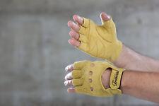 Cicli-Franconi Retro Fahrrad Handschuhe Leder classicgelb,cycle gloves wildleder