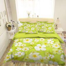 3D Green Flower 59 Bed Pillowcases Quilt Duvet Cover Set Single Queen King AU