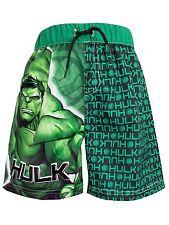 Incredible Hulk Boys Marvel The Hulk Swim Shorts Bathers Trunks