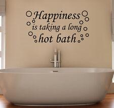felicidad Taking Largo Fucsia baño burbujas baño adhesivo adhesivo pared imagen