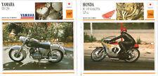 SCHEDA MOTO MOTORCYCLE CARD YAMAHA YD1 250 1957 - HONDA RC 149 GRAND PRIX 125 CC