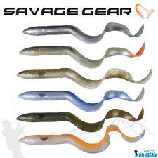 Savage Gear 3D Real Eel Albino 15-40cm / 12-147g LB Gummiaal Hecht Wels Köder
