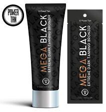 Power Tan Mega Black Bottles or Sachets Sunbed Tanning Lotion Accelerator Cream