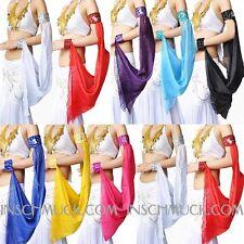C11 Bauchtanz Kostüm ein Stück Arm Schleier Armband Belly Dance in 15 Farben