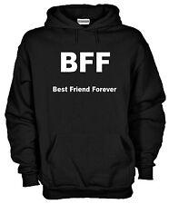 Felpa Fun hoodie KJ520 BFF Best Friend Forever Migliori Amici Per Sempre Sigla