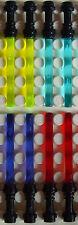 8x Lego Laserschwert, schwarzer Griff in 4 Farben für Minifiguren Star Wars