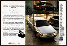 1992 INFINITI Q45 & G20 Vintage Original 2 page Print AD Silver car photo Canada