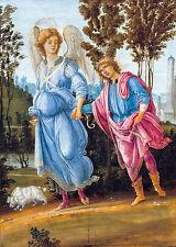 Filippino Lippi - Tobias and the Angel, Christian Art Poster, Canvas Print