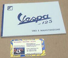 1387 LIBRETTO USO E MANUTENZIONE VESPA 125 VNA1T 1957 1958