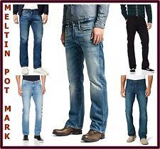 jeans meltin pot uomo slim fit mark denim a zampa svasati gamba dritta dritti