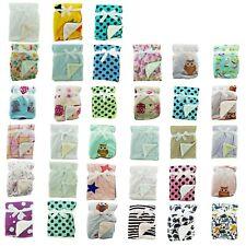 Newborn Soft Baby Blanket Crib Pram Cot Boys Girls Infant Cotton Fleece Fur Back