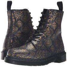 Dr. Martens Pascal BQ 8-Eye Purple Black Cristal Baroque Boots Sz US 5 UK 3 NWT