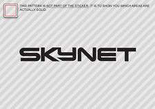 (2x) SKYNET Sticker Die Cut Decal vinyl terminator cyberdyne