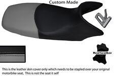 BLACK AND GREY CUSTOM FITS HONDA XL 125 01-12 VARADERO LEATHER SEAT COVER