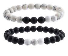 Long Distance Relationship Genuine Stones Howlite Bracelets Valentine's Onyx