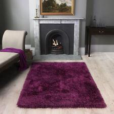 Barrington Deep Purple Shaggy Thick Warm Thick Fluffy Soft Living Room Floor Rug