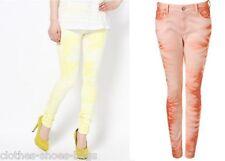 TOPSHOP MOTO Jamie High Waisted Skinny Slim Tie Dye Jeans 8 10 L30 L32 NEW £45