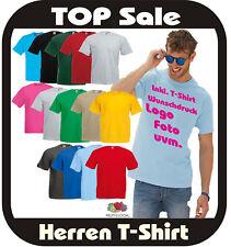 T-Shirt individuell bedrucken Fruit of the Loom 25 Farben nach Wunsch