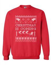 New Christmas Is Coming Xmas Holidays Dragons TV Funny DT Crewneck Sweatshirt