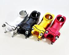 "Fixed Gear Handlebar Stem 80mm * 25.4 mm * 1-1/8"" Black, Red, Gold, Silver"