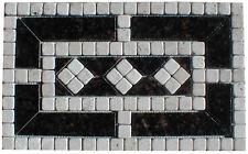 "11"" X 18: Natural Stone Medallion - Tumbled Stone and Tan Brown Granite"