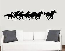 Carreras de caballos el paisaje Pared Arte Vinilo Pegatinas Pony transferencia murales Calcomanías