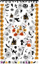 Foglio Water Decals Halloween ADESIVI STICKERS NAIL art UNGHIE TRANSFER Zucca n2