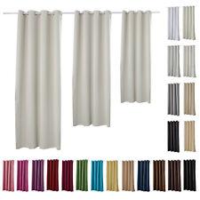 Gardinen Vorhang blickdicht mit Ösen Thermo Verdunkelung 250g/m2 matt #329-a