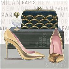 Marco Fabiano: Forever Fashion IV Keilrahmen-Bild Leinwand Mode High Heel