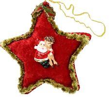 palla- stella per albero di Natale:  in stoffa scozzese -