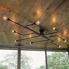 Antique Industrial Ceiling Light Steampunk Semi Flush Mount Chandelier Fixture